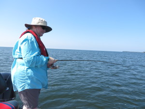 Connie Worrell also from KC answers Clint Mooneys fish with one of her own!